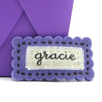 Felt Name Snap Clip - Purple