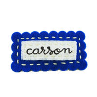 Felt Name Snap Clip - Royal Blue