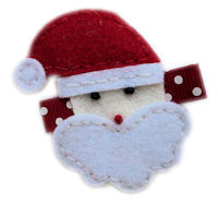 FELT CLIP - Santa