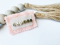 Felt Name Snap Clip - Baby Pink with Sparkle