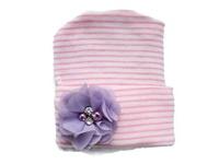 NEWBORN CAP - Flower - Lavender