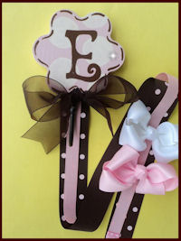Flower Hook - Pink & Brown