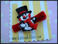 Frosty the Snowman Hair Clip
