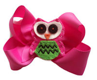 Funky Bows - Funky Owl - Hot PInk