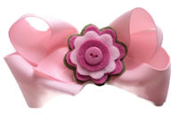 Funky Bows - Felt Flower - Light PInk
