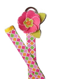 Fun with Felt - Simple Bow Holder - Colorful Stitch Flower