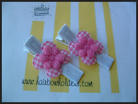Preppy Pink Gingham Cuties on White