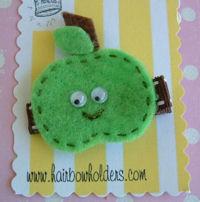 FELT CLIP - Apple (Green)