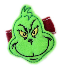 FELT CLIP - The Grinch!