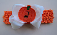 Halloween Monogram Bow + Headband