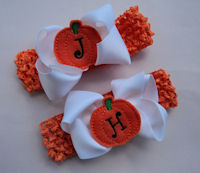 Halloween Monogram Bow + Headband for SISTERS