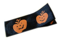 Halloween Clip - Orange Pumpkins on Sleek Black WIDE