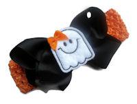 Halloween Ghost Bow + Headband