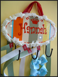 HeadBand + Bows Holder - Hannah - Zinnia