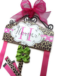 Hair Bow Holder - Animal Print - Cheetah