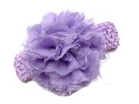 Chiffon Flower Headband - Lavender