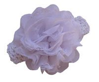 Chiffon Flower Headband - White