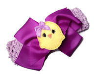 Chic Peep Purple Bow + Headband Kit - Purple with Yellow Peep Center