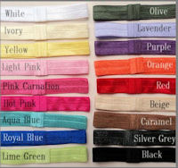 Interchangeable Headbands (Foldover Elastic) - SELECT A COLOR