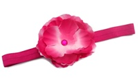Headband - Hot Pink Silk Flower Bling
