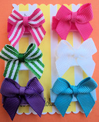 Infant Hair Pretties - Set of 6 Pretty Stripes and Solids