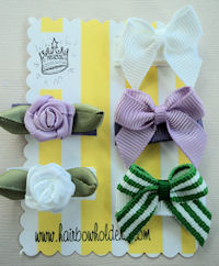 Infant Hair Pretties - Set of 5 - Elegant Lavender Baby Girl