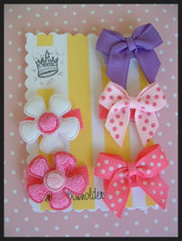 Infant Hair Pretties - Set of 5 - Playful Pinks n Purple