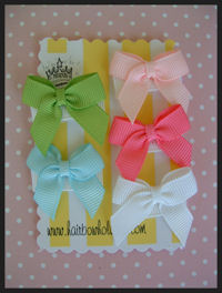 Infant Hair Pretties - Set of 5 - Beautiful Mini Bows