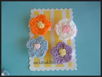Infant Hair Pretties - 4 Crochet Flowers - Starter Pack