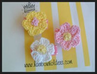 Infant Hair Pretties - 3 Crochet Flowers - Starter Pack