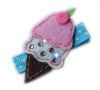 FELT CLIP - Ice Cream Cone Princess