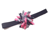 Headband Korker Fun - Hot Pink and Zebra