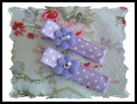 Dots - Purple Flowers with Bling