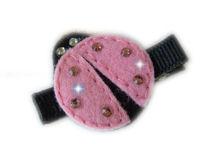 FELT CLIP - LADYBUG - Pink BLING