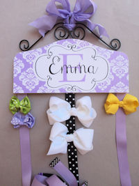 Emma Collection - Purple Damask