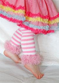 Pretty Leggings - Pink Stripes