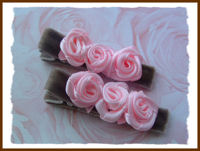 Roses - Pink Swirls on Brown Velvet