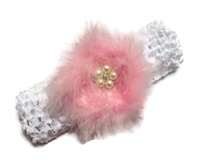 Marabou Princess 2 piece Headband Set