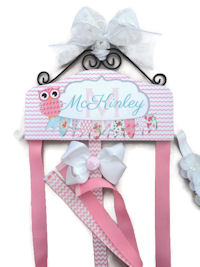 Hair Bow Holder - Owl - McKinley Style