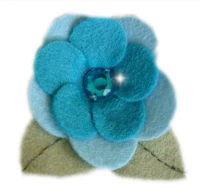 FELT CLIP - Meghan - BEAUTIFUL BLUE