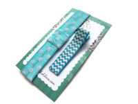 Mini Gift Set - Headband and Hair Clip - Turquoise