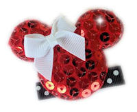 Minnie Mouse Rocks - Red Sequins