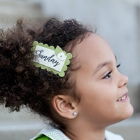 Monica Hair Clip - Apple Green