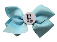Basic Bows - MONOGRAM - Everyday Baby Blue and White