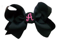 Basic Bows - MONOGRAM - Everyday Black and Black