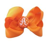 Hair Bow MONOGRAM - Orange
