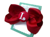 Basic Bows - MONOGRAM - Everyday Red and Red