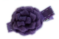 Mums Hair Clips - Purple