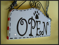 Boutique Sign - OPEN & CLOSED - PET SHOP