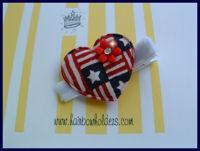 Patriotic Clip - Heart